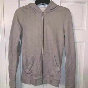 Lulu Lemon Size 0 Light Gray Athletic Sweatshirt
